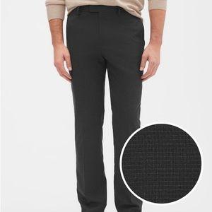 Slim-Fit Grey Windowpane Trouser